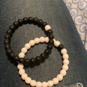 Black and white lokai bracelet pair M
